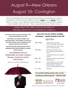 LINCOLN Meeting INVITE August 2016